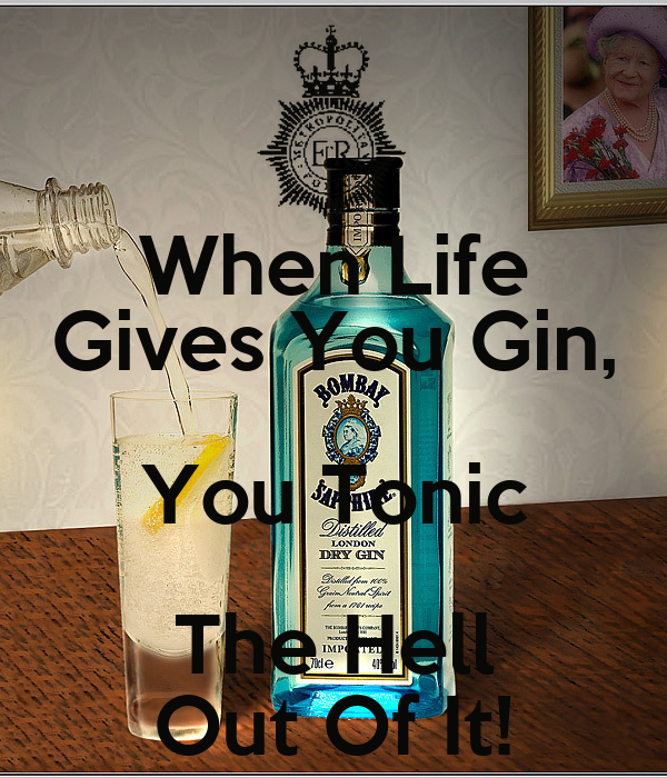 When Life Gives You Gin, You Tonic The Hell Out Of It!
