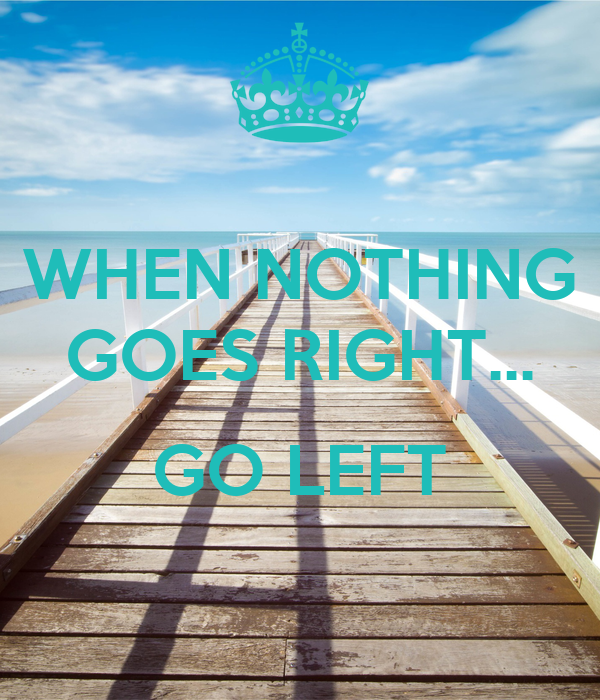 when nothing goes right go left poster libster d keep calm o matic. Black Bedroom Furniture Sets. Home Design Ideas