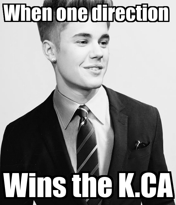 When one direction  Wins the K.CA