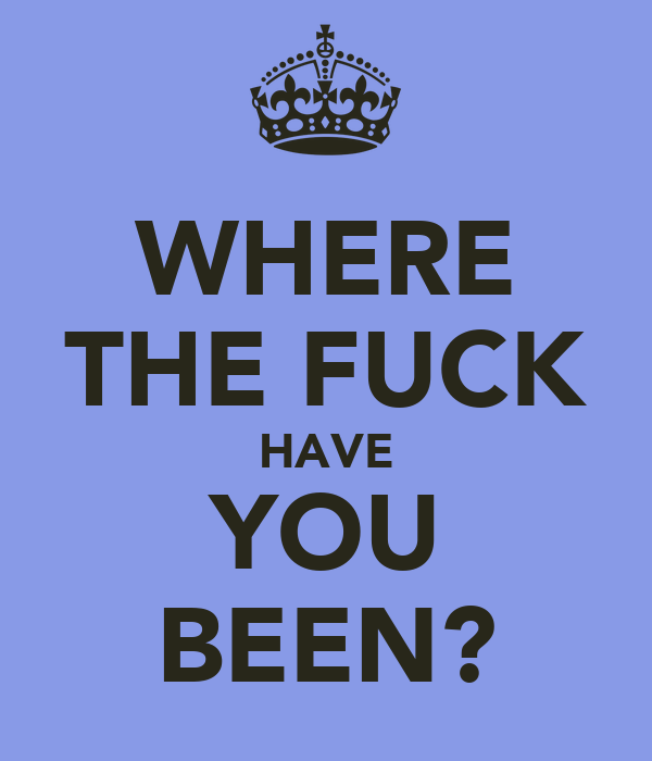 WHERE THE FUCK HAVE YOU BEEN?