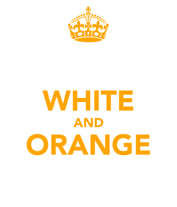 WHITE AND ORANGE