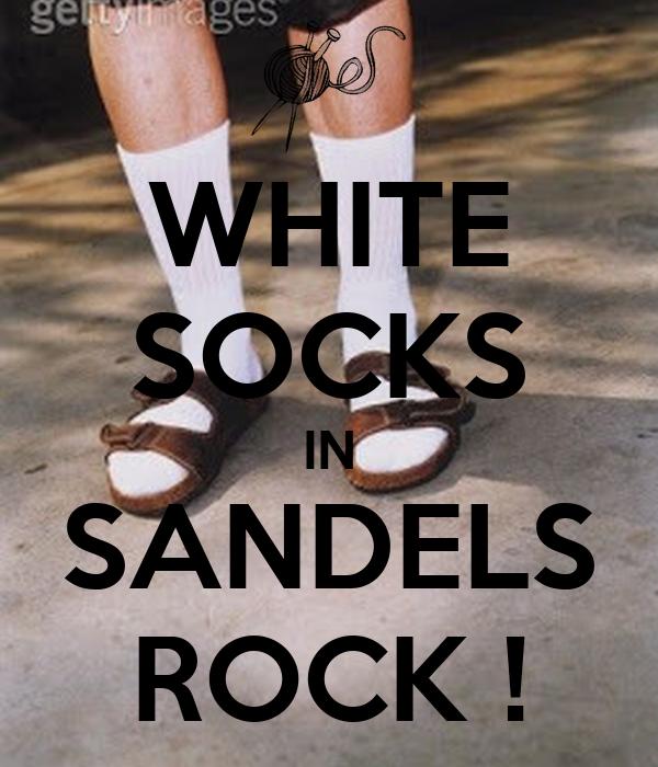 WHITE SOCKS IN SANDELS ROCK !