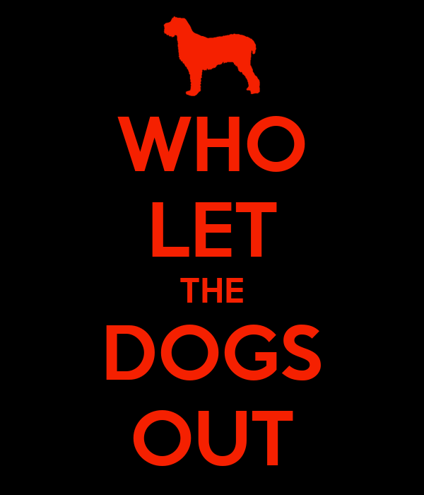 WHO LET THE DOGS OUT