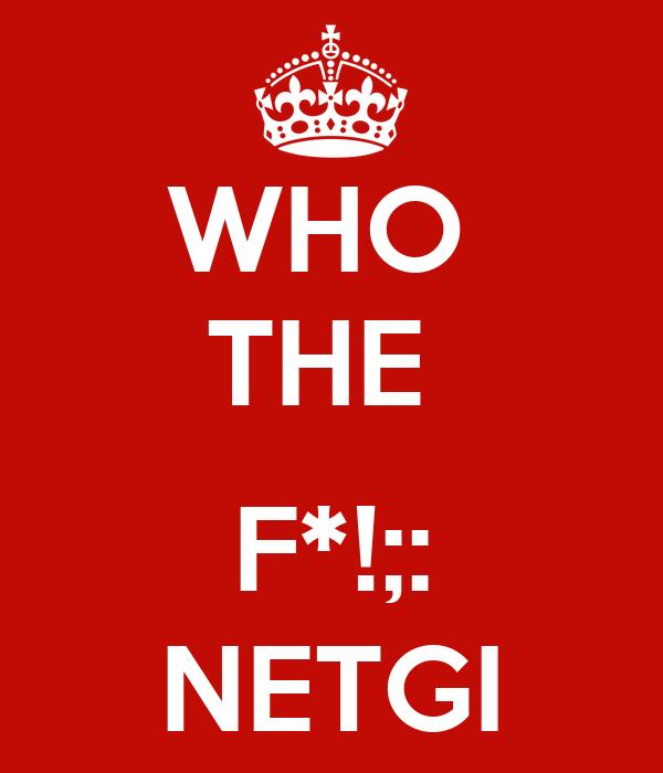 WHO  THE   F*!;: NETGI