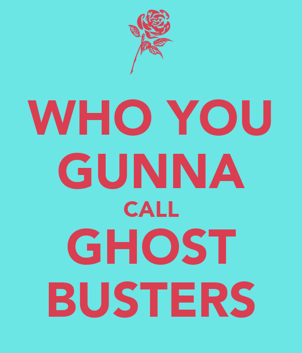WHO YOU GUNNA CALL GHOST BUSTERS