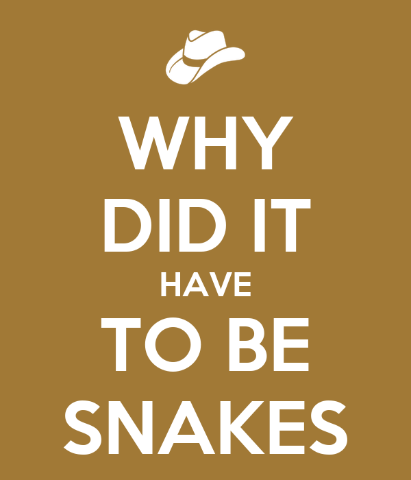 WHY DID IT HAVE TO BE SNAKES