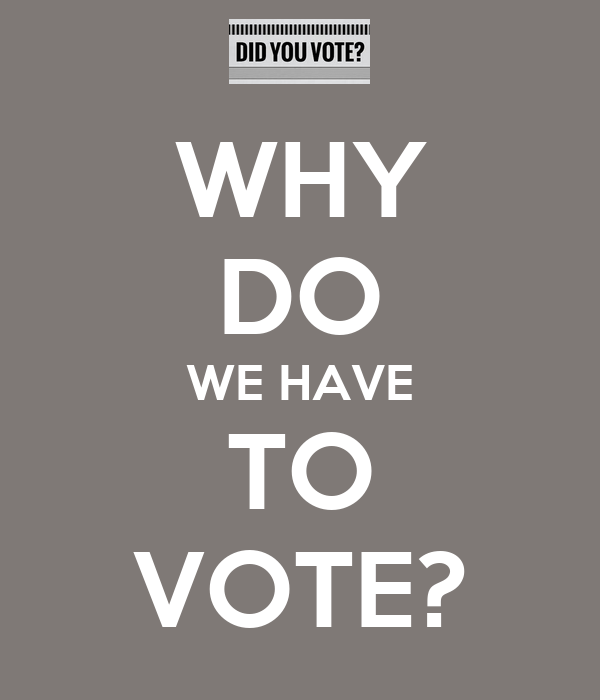 WHY DO WE HAVE TO VOTE?