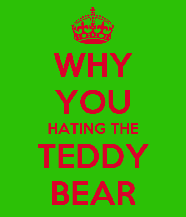 WHY YOU HATING THE TEDDY BEAR