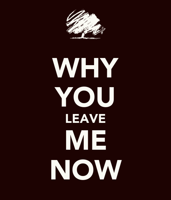 WHY YOU LEAVE ME NOW