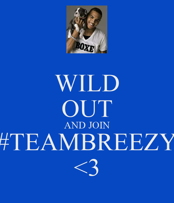 WILD OUT AND JOIN #TEAMBREEZY <3