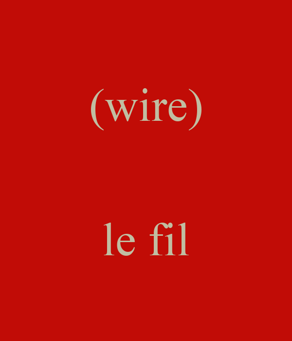 (wire)   le fil