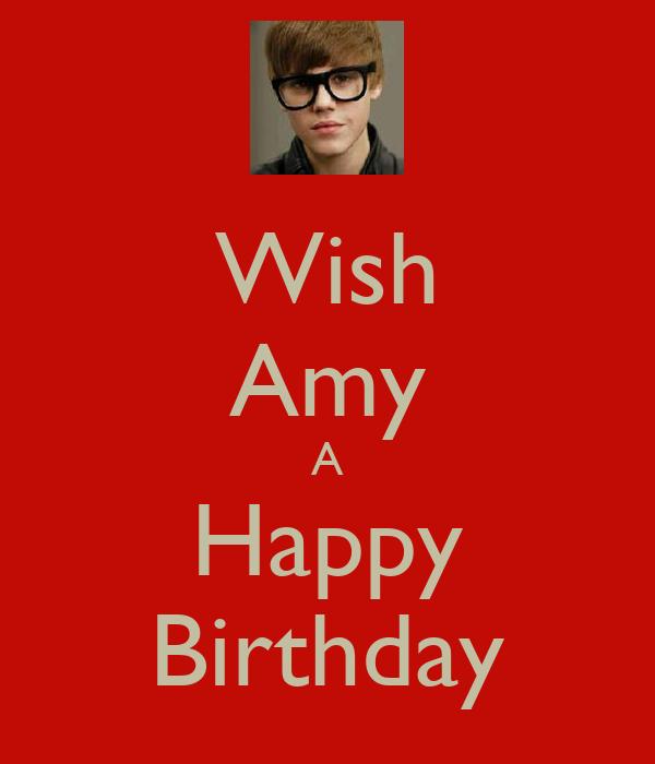 Wish Amy A Happy Birthday