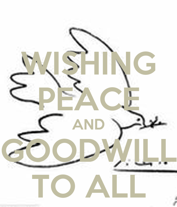 wishing peace and goodwill to all poster kaytecharlesworth keep