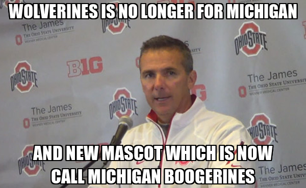 WOLVERINES IS NO LONGER FOR MICHIGAN AND NEW MASCOT WHICH IS NOW CALL MICHIGAN BOOGERINES