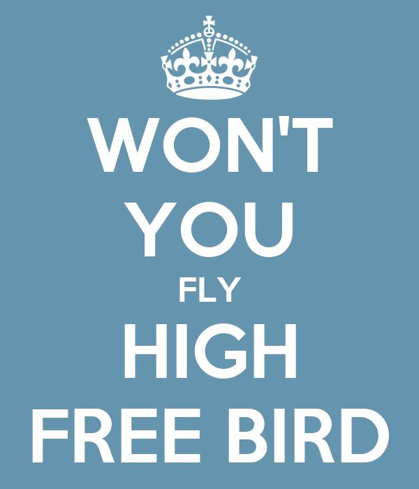 WON'T YOU FLY HIGH FREE BIRD
