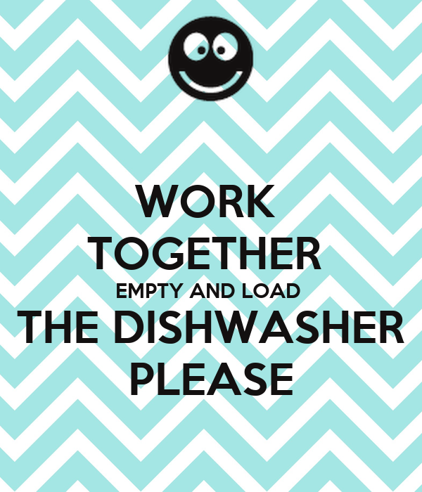 how to keep sink empty as a dishwasher