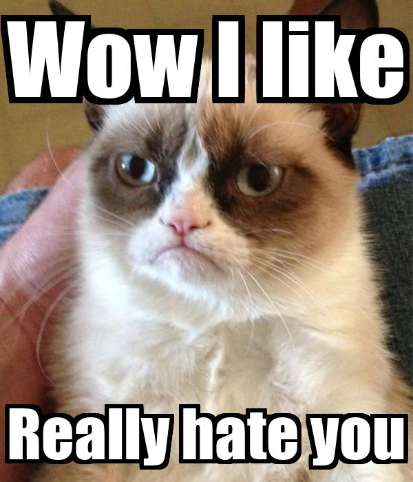 Wow I like Really hate you
