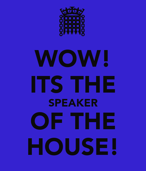 WOW! ITS THE SPEAKER OF THE HOUSE!