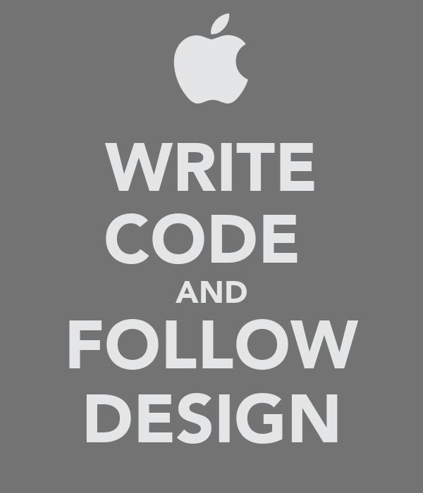 WRITE CODE  AND FOLLOW DESIGN