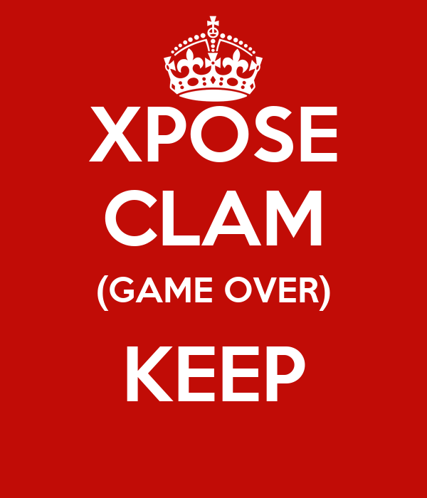 XPOSE CLAM (GAME OVER) KEEP