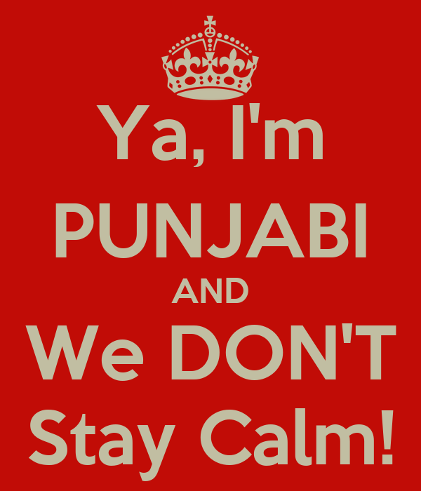 Ya, I'm PUNJABI AND We DON'T Stay Calm!