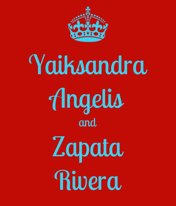Yaiksandra Angelis and Zapata Rivera