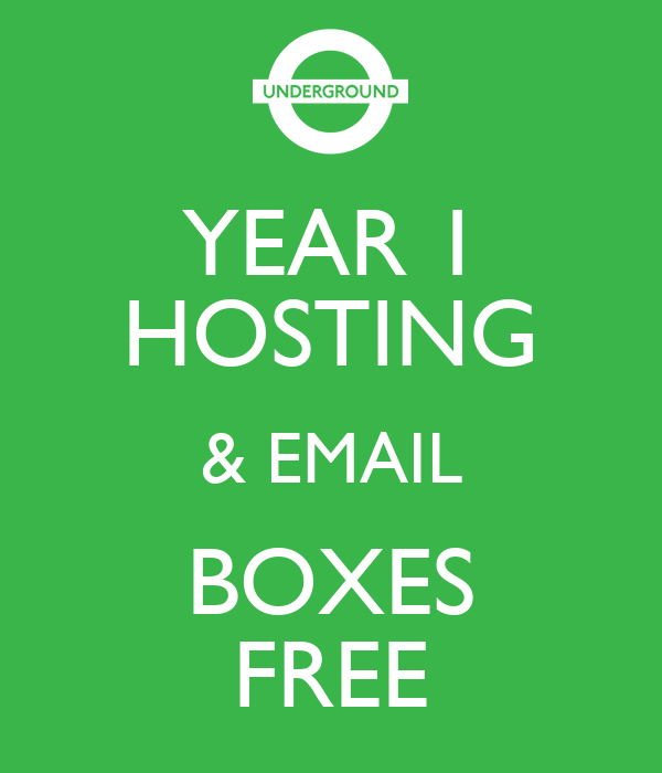YEAR 1 HOSTING & EMAIL BOXES FREE