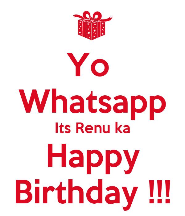 Happy Birthday Renu Wallpaper By Yo Whatsapp Its Ka Poster Dm