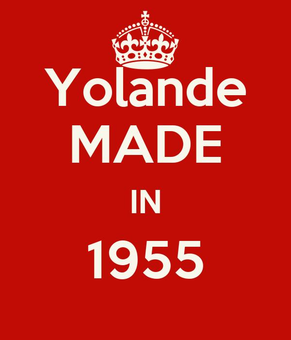 Yolande MADE IN 1955