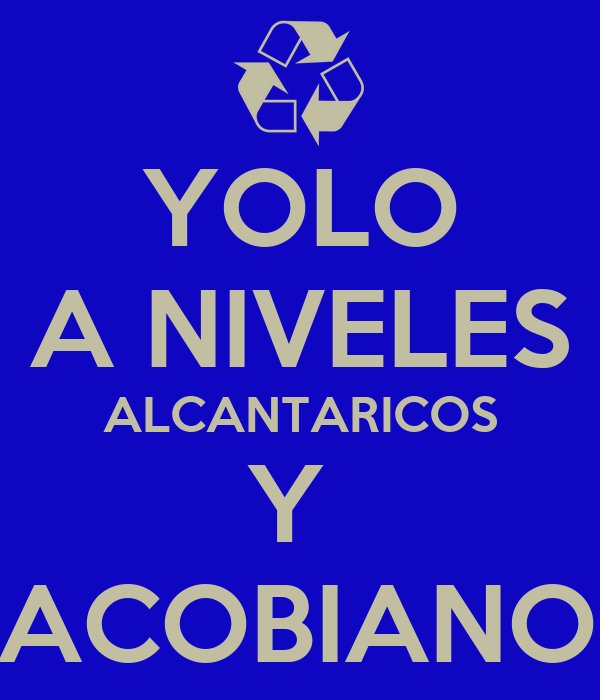 YOLO A NIVELES ALCANTARICOS Y  JACOBIANOS