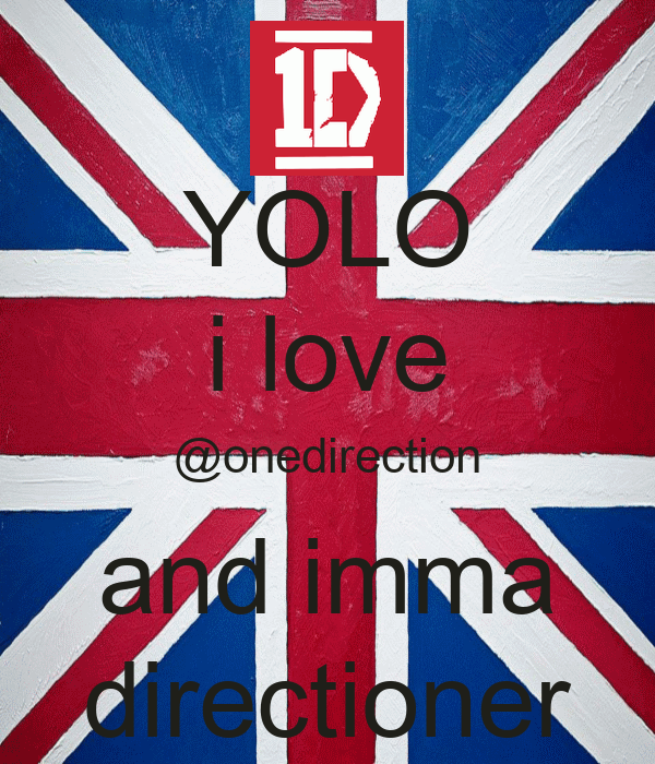 YOLO i love @onedirection and imma directioner