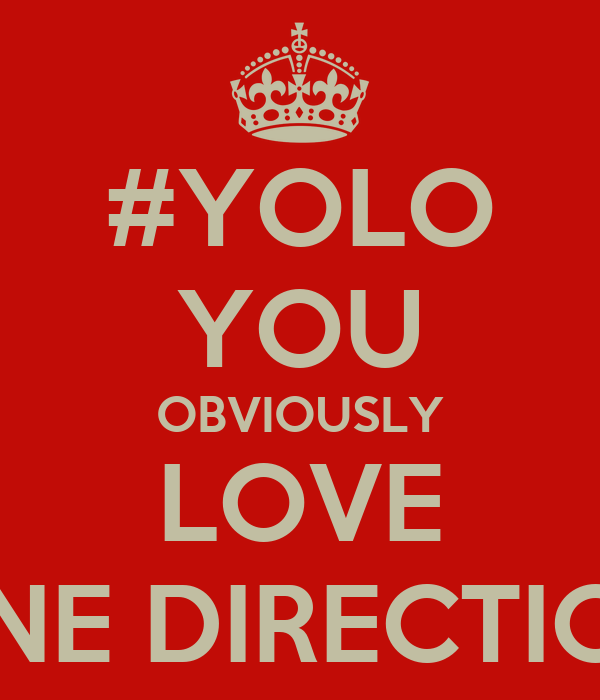 #YOLO YOU OBVIOUSLY LOVE ONE DIRECTION