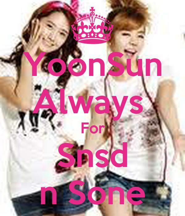 YoonSun Always  For Snsd n Sone