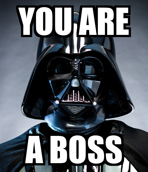 YOU ARE A BOSS