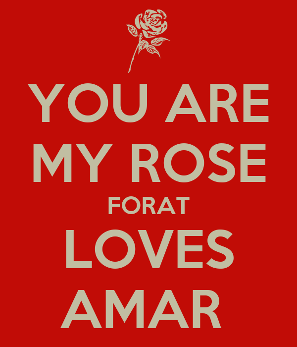YOU ARE MY ROSE FORAT LOVES AMAR