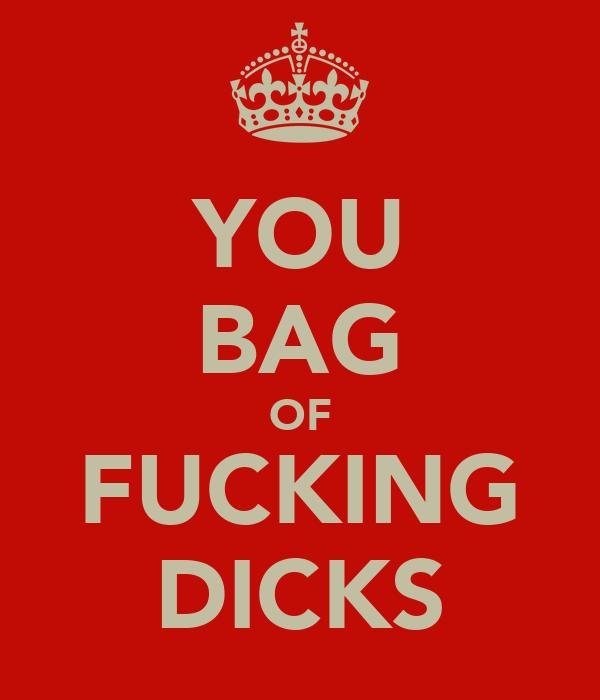 YOU BAG OF FUCKING DICKS