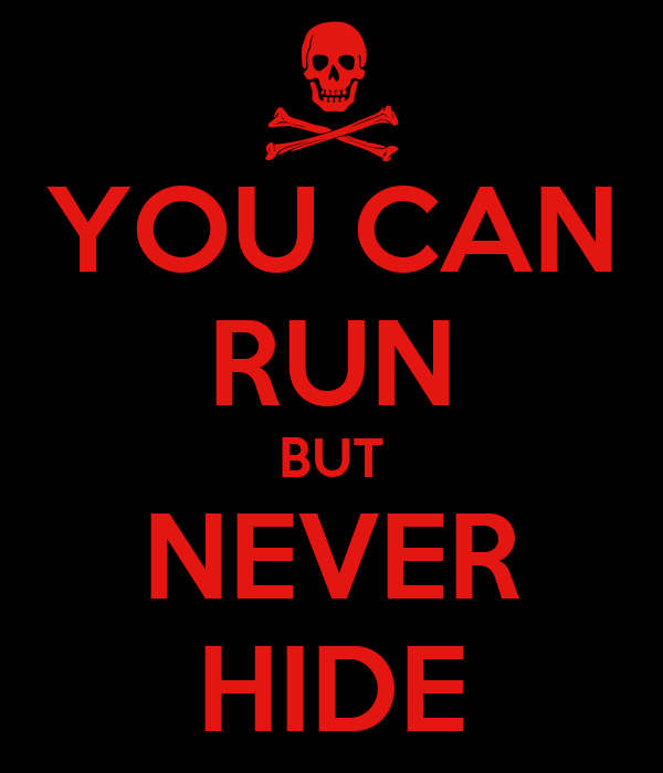 YOU CAN RUN BUT NEVER HIDE