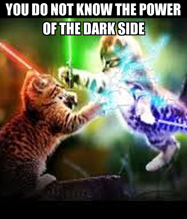 YOU DO NOT KNOW THE POWER OF THE DARK SIDE