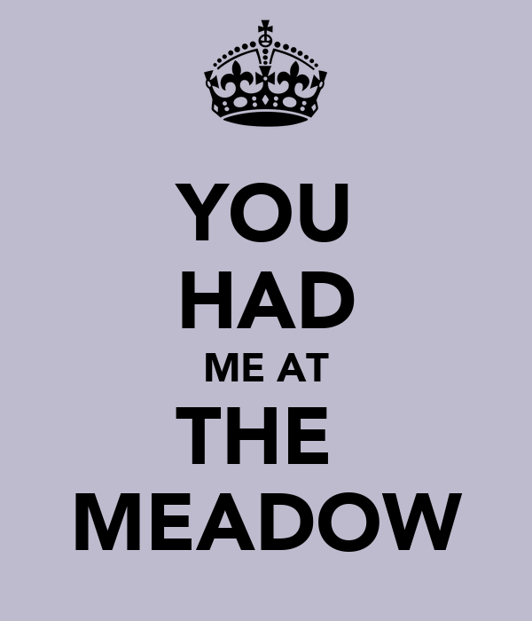 YOU HAD ME AT THE  MEADOW