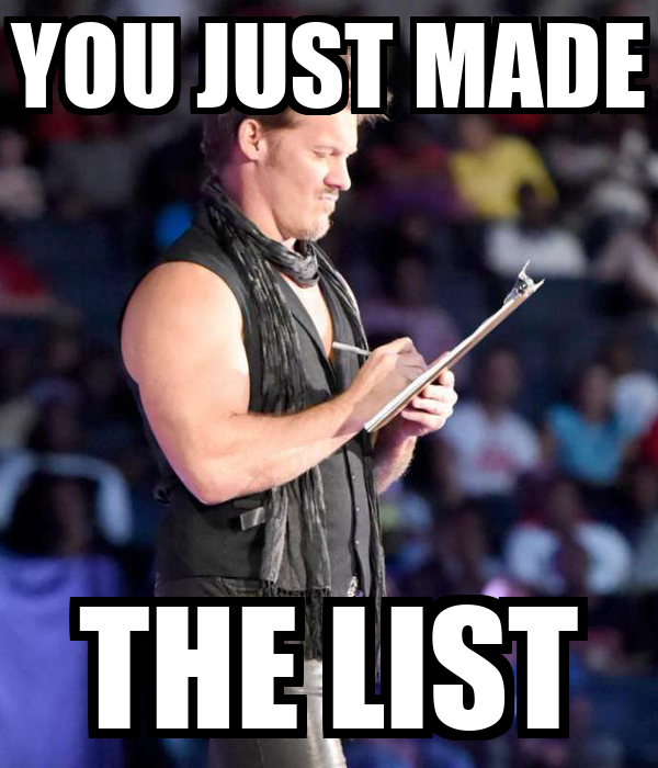 YOU JUST MADE THE LIST