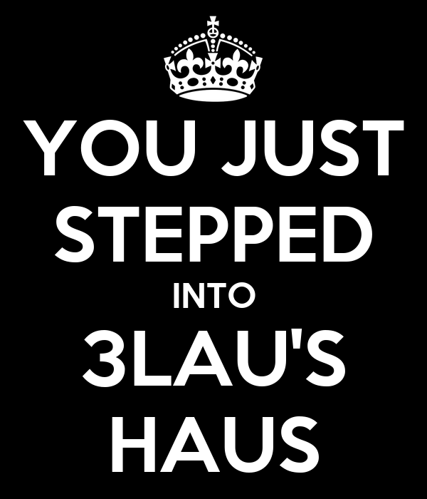 YOU JUST STEPPED INTO 3LAU'S HAUS