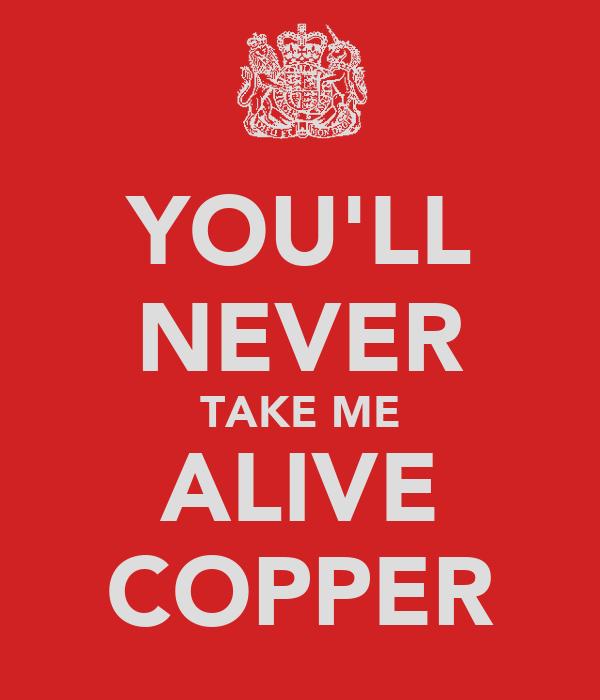 YOU'LL NEVER TAKE ME ALIVE COPPER
