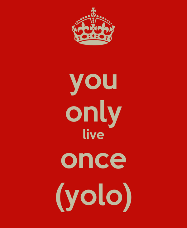 you only live once (yolo)