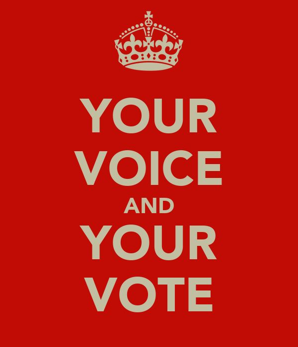 YOUR VOICE AND YOUR VOTE