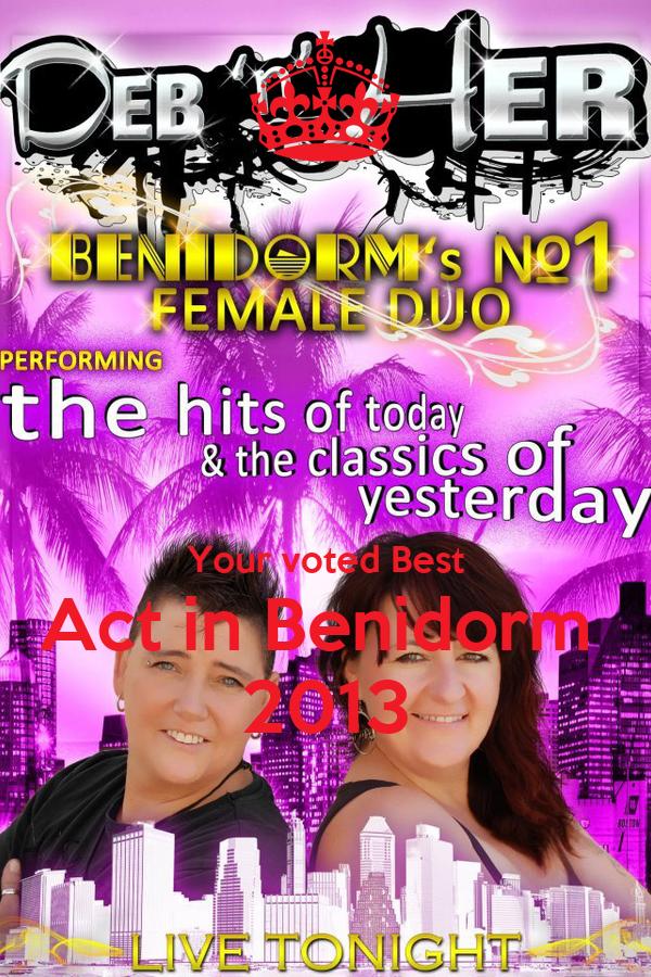 Your voted Best Act in Benidorm  2013