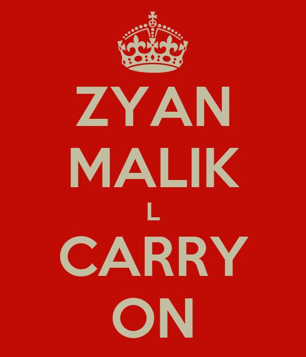 ZYAN MALIK L CARRY ON