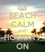 Poster: BEACH CALM AND HOLIDAY ON