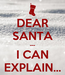 Poster: DEAR SANTA --- I CAN EXPLAIN...