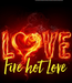 Poster:   Fire hot Love