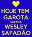 Poster: HOJE TEM  GAROTA SAFADA WESLEY SAFADÃO